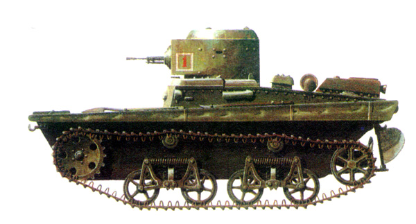 Танк Т-37, схема окраски.